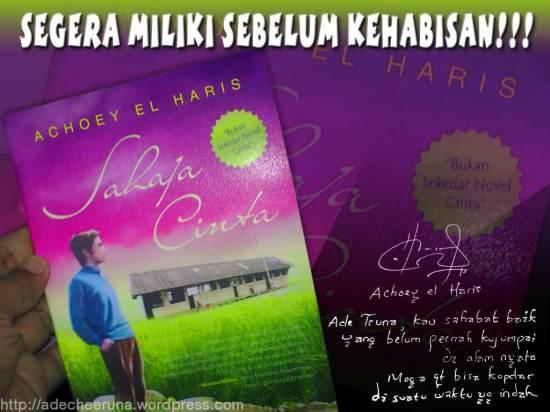 promosi buku Sahaja Cinta