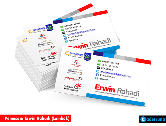 Pemesan print on demand dari Lombok : Nama Erwin Rahadi