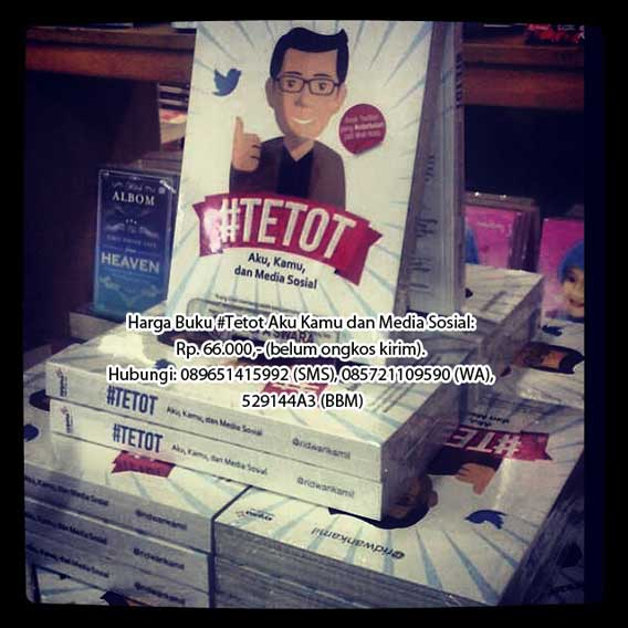 Beli buku #Tetot Aku Kamu dan Media Sosial di Bandung