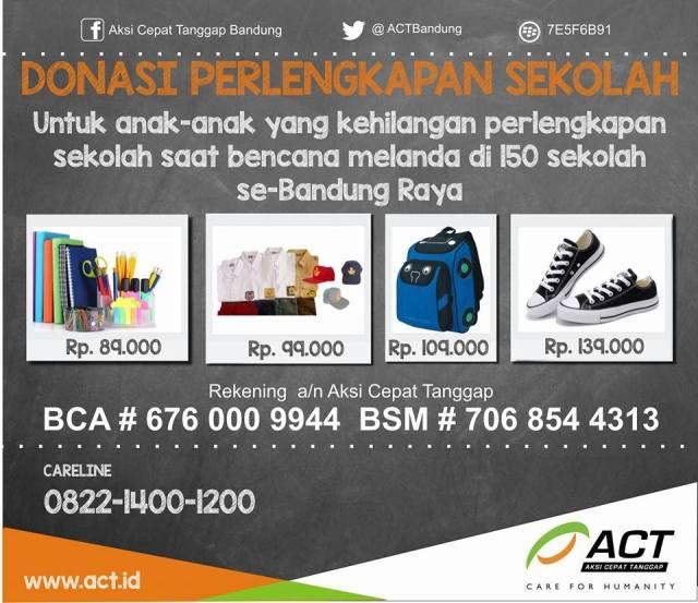 Poster Donasi Perlengkapan Sekolah ACT