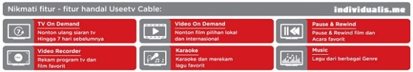 Fitur handal UseeTV Cable IndiHome Fiber Telkom Indonesia