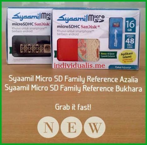 Miliki Syaamil Micro SD dapatkan bonus Alquran Exclusive di setiap pembeliannya.