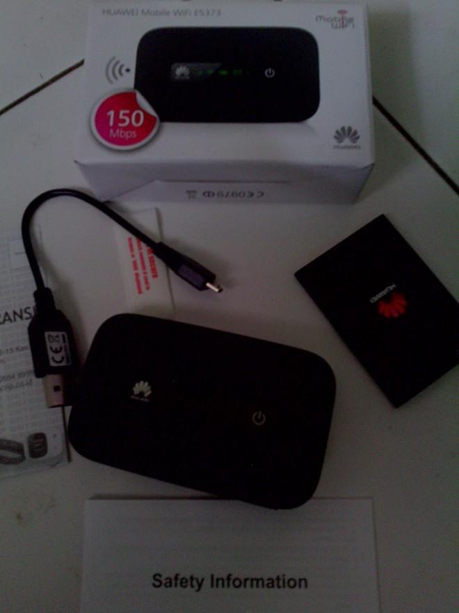 Modem Mobile WiFi Huawei (foto: dok. Pribadi)