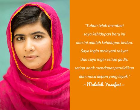 Aktivis Perjuangan Hak Pendidikan dan Perempuan : Malalah Yusafzai