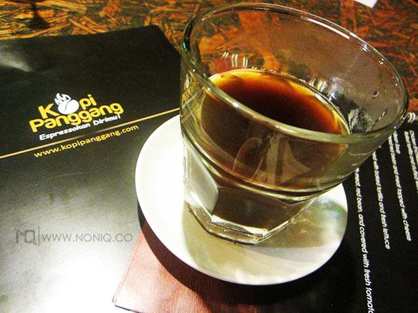 Salah satu racikan Kedai Kopi Panggang: kopi Toraja
