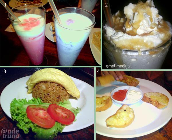 Menu light meal yang bisa dipesan di Kedai Kopi Panggang Dago Bandung