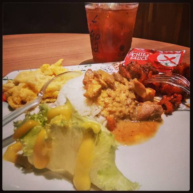 Menu Lotteria Curry Combo (foto: Asep Hakim)