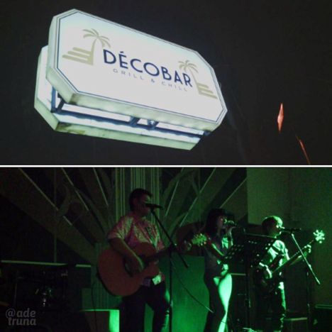 kemeriahan live music Drama Queen di Decobar