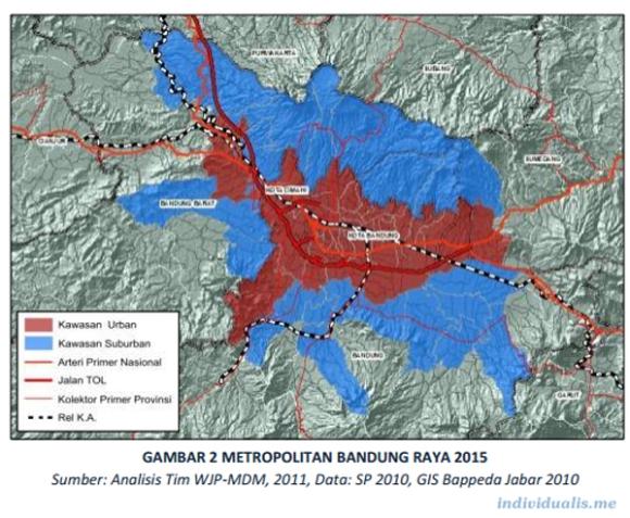 Peta Metro Bandung Raya