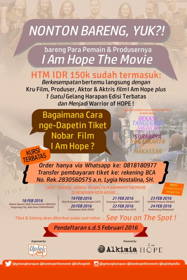 Nonton bareng I Am Hope di beberapa kota besar Indonesia