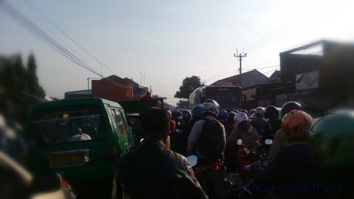 kemacetan di Katapang Soreang