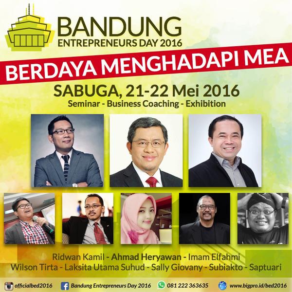 Kembali Digelar: Bandung Entrepreneurs Day2016