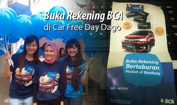 Buka Rekening BCA di Car Free DayDago