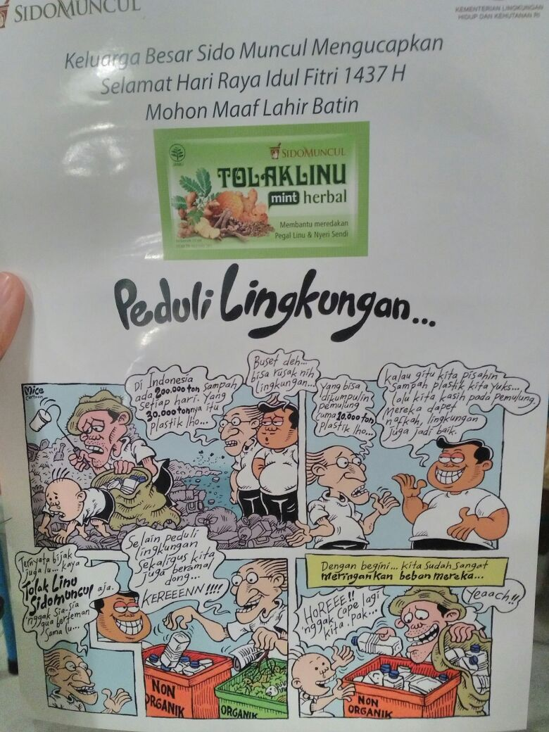Kampanye Peduli Lingkungan dari Sidomuncul