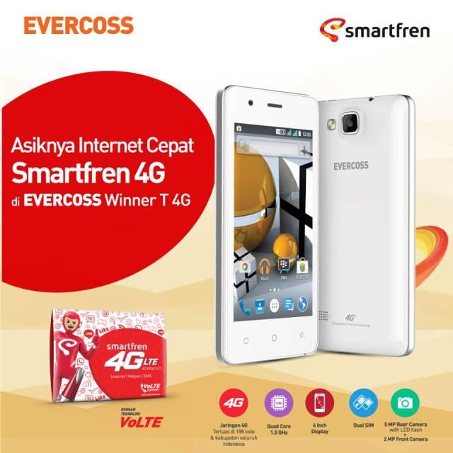 Asiknya Internet Cepat Smartfren 4G di Evercoss Winner T 4G