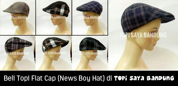 Beli Topi Flat Cap (News Boy Hat) di Topi Saya Bandung