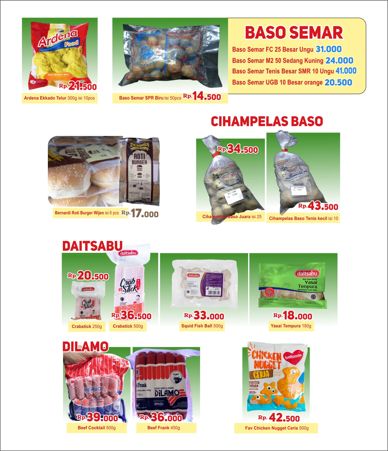 Silakan order Frozen Food via WA: 085721109590