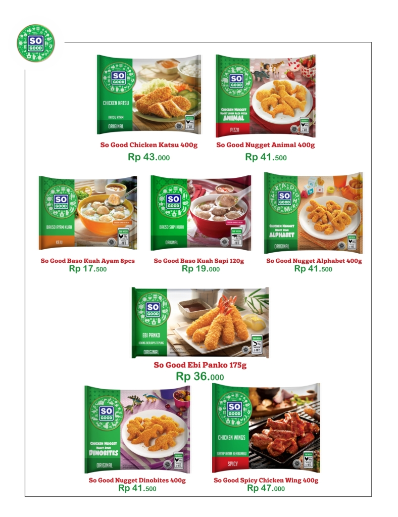 Silakan order Frozen Food So Good - WA: 085721109590